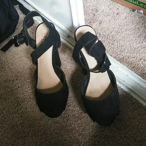 Black cute high heels